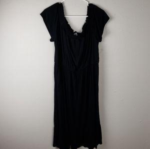 Old Navy Black Short Sleeve Maxi Dress Size XL